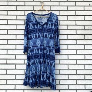 Ralph Lauren Jeans Long Sleeve Henley Tribal Dress